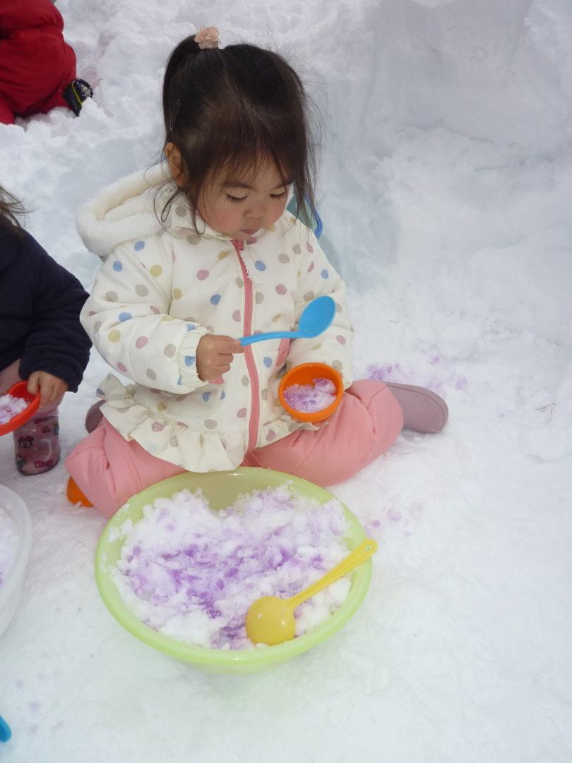 たんぽぽぐみ雪遊びしました☃