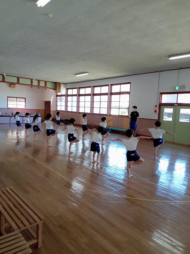 梅松さんの組体操練習✨